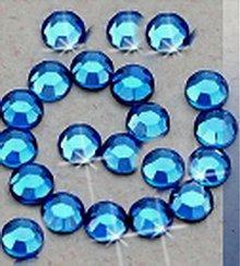 Galantéria - Hot- fix krištáľ - SS10 modrá sapphire 144 ks - 209811