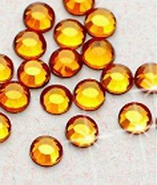 Galantéria - Hotfix kamienky: medové - topaz,SS6 144 ks - 209823