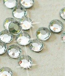 Galantéria - Hotfix kamienky: strieborná - crystal, SS6 144 ks - 209827