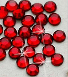 Galantéria - Hotfix kamienky: červené - siam, SS6 144 ks - 209836