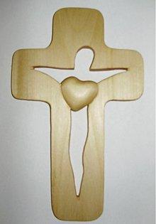 Dekorácie - kríž siluetový malý natur - 2098504