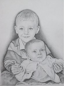 Kresby - Kresba - portrét A4 pre Zuzku :) - 2099045