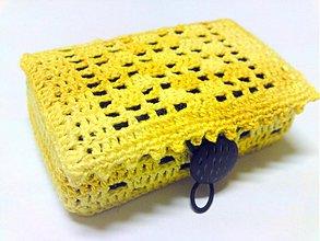 Krabičky - Na kontaktné šošovky  v žltom - 2100984
