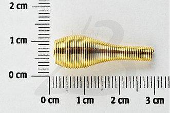 Komponenty - RUR1467, MEDZIKUS 27mm Nikola ZLATO /1ks - 2105605