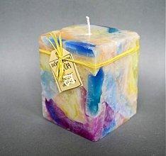 Svietidlá a sviečky - sviečka Rozvírená dúha - 2105723