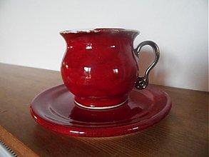 Nádoby - červená s podšálkou - 2106043