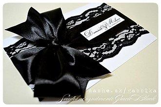 """Papiernictvo - Svadobné oznámenie """"GRACIE BLACK"""" - 2110223"""
