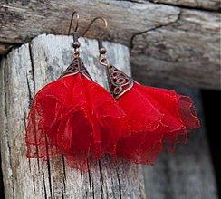 Náušnice - Tanečnice červené - 2110494
