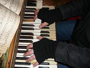 Rukavice - Čierne rukavice pre chlapa - 2110558