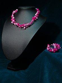 Sady šperkov - Perličkový setík - PinkCyclamic - 2113028