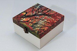 Krabičky - Jesenná čajová krabička - 2114508