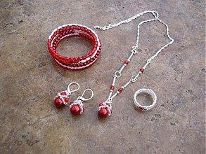 Sady šperkov - Sada MRAZENÉ JAHODY - 2115612