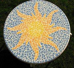 Nábytok - Mozaikový stôl Slnko - 2123405