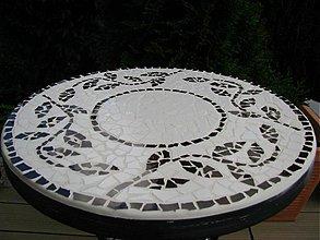 Nábytok - Mozaikový stolík Hnedé listy predaný - 2123491