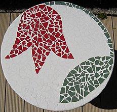 Nábytok - Mozaikový stolík Červený tulipán predaný - 2123610