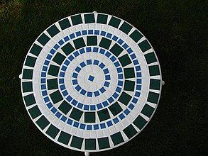 Nábytok - Mozaikový stôl Štvorce predaný - 2123641