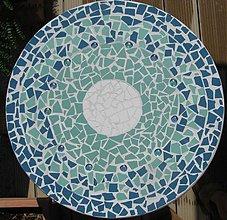 Nábytok - Mozaikový stolík Tyrkys (predaný) - 2123686