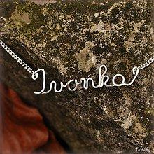Náhrdelníky - Náhrdelník s menom z postriebreného drôtu: 6-8 písmen (Ivonka) - 2125332