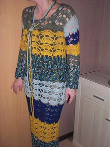 73e657390f16 Svetre Pulóvre - háčkované šaty VÝPREDAJ !!! - 2131491