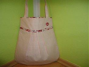 Veľké tašky - Ružovučká bodočka s kvietkom - 2132145