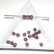 Korálky - 0212 Ohňovky - fialové - 4 mm, 10 ks - 213261