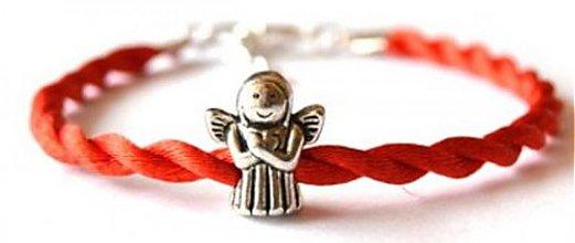 Náramky - kabbalah náramok anjelik 2 korálka - 2132849