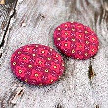 Materiál ručne robený - VÝPREDAJ!!! Ružové mňamky 38 mm - 2135041