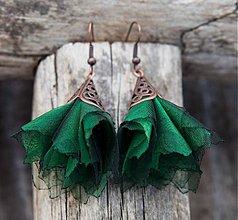 Náušnice - Tanečnice smaragdovozelené - 2135475