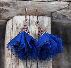 Náušnice - Tanečnice modré - 2135517