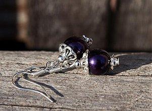 Náušnice - Slivkové perličky - 2135581