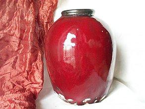 """Dekorácie - Váza červená baňatá """"Veľká láva"""" - 2137200"""