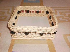 Košíky - Korálkový na servítky - 2141242