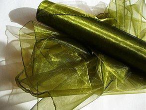 Textil - organza OLIVA - 214229