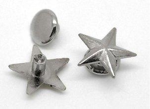 Galantéria - GAL1530, NIT Hviezda malá 11mm STRIEBRO /1ks - 2142759