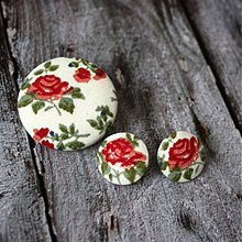 Sady šperkov - Náušky a brošňa Porcelain flowers - 2144851