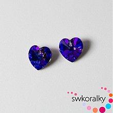 Korálky - SRDCE 10.3 SWAROVSKI ® ELEMENTS - Heliotrope - 2145013