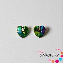 Korálky - SRDCE 10.3 SWAROVSKI ® ELEMENTS - vitrail medium - 2145067