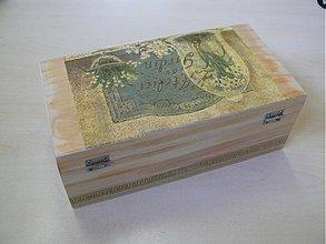 Krabičky - Krásna šperkovnica - starožitný motív/vzhľad - 2145636