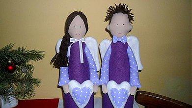 Dekorácie - anjelský pár L - 2147419