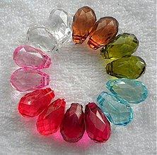 Korálky - Plast.slza 18mm-MIX-14ks - 2149860