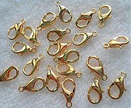 Komponenty - Karabínka (12mm-zlatá-1ks) - 2149988