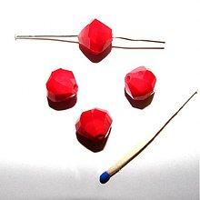 Korálky - 0218 Brúsený sklenený kryštálik 11 mm, červený, 1 ks - 215155