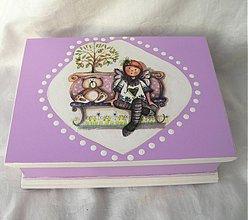 Krabičky - Malá šperkovnica pre malého andílka - 2156630