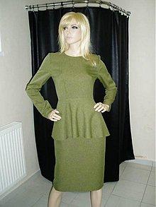 Iné oblečenie - Zeleno-hnedý biznis kostýmček v.38 - výpredaj - 50%!!! - 2156692