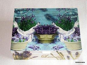 Krabičky - Levanduľový záhon - 215729