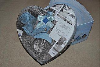 Krabičky - Srdce pre motorkára - 2157949