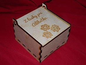 Polotovary - krabička s venovaním. - 2158915