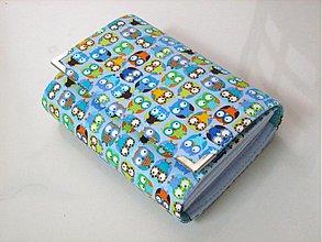Peňaženky - Veselé minisovičky v modré II - i na karty :-) - 2161199
