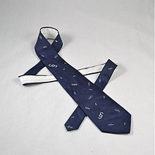 Doplnky - Tmavě modrá kravata s paragrafy - 2172137