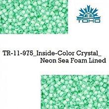 Korálky - 659-T094 TOHO rokajl 11/0 Inside-Color Crystal_Neon Sea Foam Lined, 10 g - 2174852
